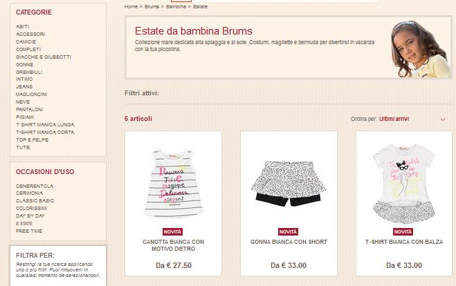 BRUMS ABBIGLIAMENTO OUTLET SI