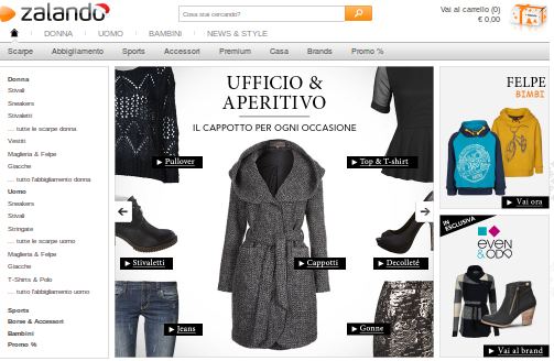 OFFERTE CAPPOTTO OUTLET SU ZALANDO NEW