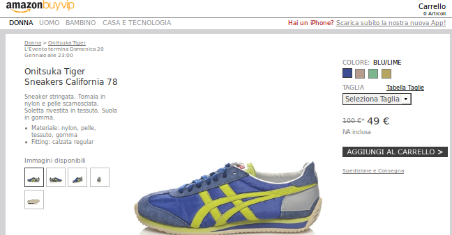 OUTLET ONITSUKA TIGER BLUE