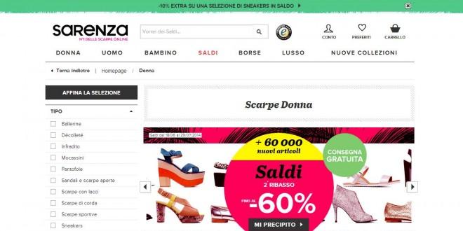 Saldi Sarenza 2015: Scarpe E Borse Scontate Fino Al 60%