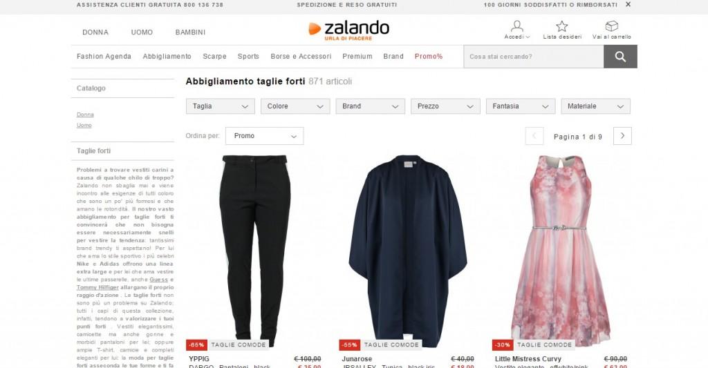 Zalando abbigliamento 2015
