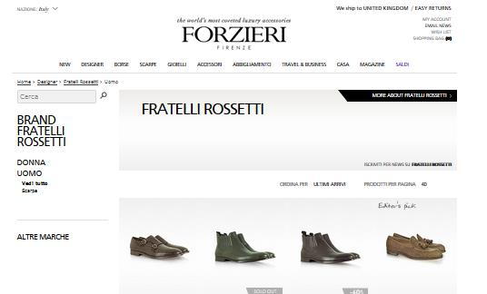 Fratelli Rossetto outlet