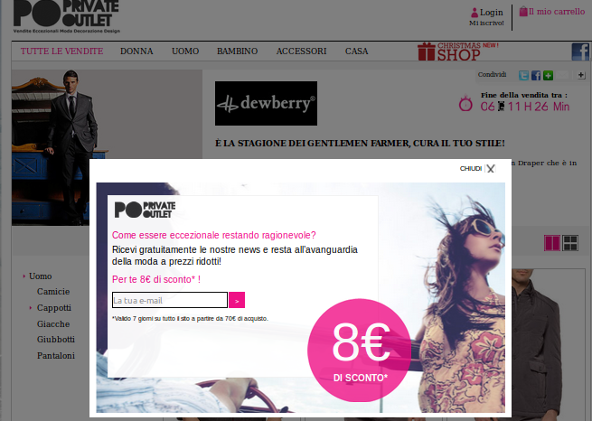 private outlet sconto